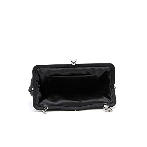 La Regale Wave Frame Pleated Pouch Bag,Champagne,One Size