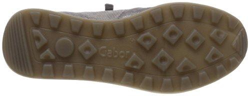 Comfort Basic Grau Derbys Shoes Gabor Kombi Femme Gris wAB8F