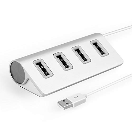 YuanElectronic 4-Port USB 3.0 Hub,0.3m/0.6m/1m USB Cable, Driver Free for Windows 10/8/7/XP, Mac OS X, Linux Desktop PC Laptop (Color : Silver, Size : 0.6m) from YuanElectronic