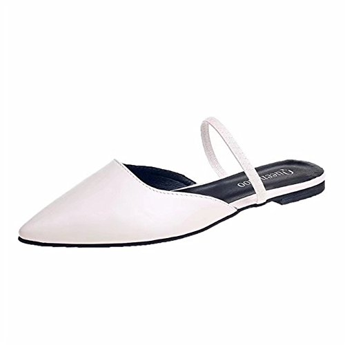 Pointed for Flat Sandals Toe PRETTYHOMEL White Mule Slippers Sandals Slides Dress Sandals Women Womens wvHE0Xq
