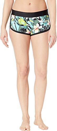 - Body Glove Women's Pulse Elastic Waist Hybrid Pull On Swim Short with UPF 50+, oahu Cactus, Large