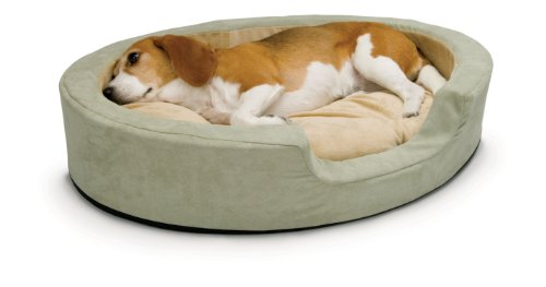 K&H Pet Products Thermo-Snuggly Sleeper Heated Pet Bed Medium Sage 26' x 20' 6W
