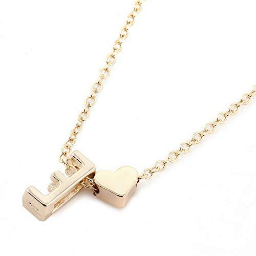 Mikash Gold Plated Initial Alphabet Letter A-Z Heart Pendant Chain Necklace Choker TR   Model NCKLCS - 40787   ()