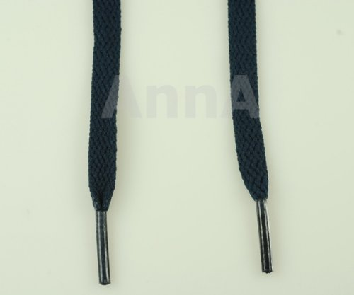 Flat Shoelaces Navy Blue 45'' 7 Pr. Eyelets 8mm Width Sneakers Shoelace