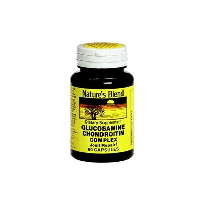 MCK66352700 - National Vitamin Company Glucosamine and Chondroitin Supplement Natures Blend 250 mg / 200 mg Strength Capsule