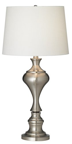 Brushed Nickel Urn Table Lamp by Regency Hill