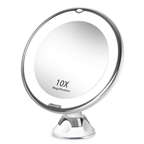 (BEAUTURAL 10X Magnifying Makeup Mirror with LED)