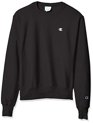 Champion LIFE Men's Reverse Weave Sweatshirt, Black 2, Small