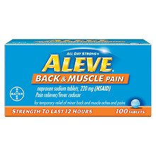 Aleve Back & Muscle Pain Tablet, Pain Reliever/Fever Reducer100.0 ea 1 Pack by Aleve