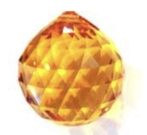 Swarovski 20mm Strass Topaz Crystal Ball Prisms #8558-20