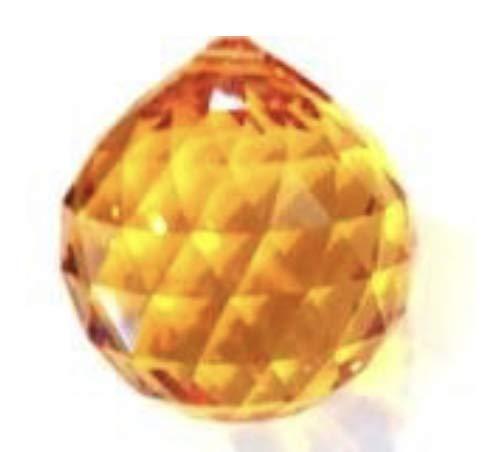 (Swarovski 20mm Strass Topaz Crystal Ball Prisms #8558-20)