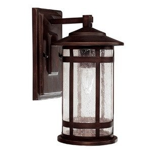 Capital Lighting 9951BB Outdoor Wall Fixture with Seeded Glass Shades, Burnished Bronze Finish
