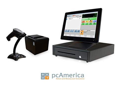 Retail Point of Sale System - Includes Touchscreen PC, POS Software (CRE), Receipt Printer, Scanner, Cash Drawer, and Credit Card Swipe Reader