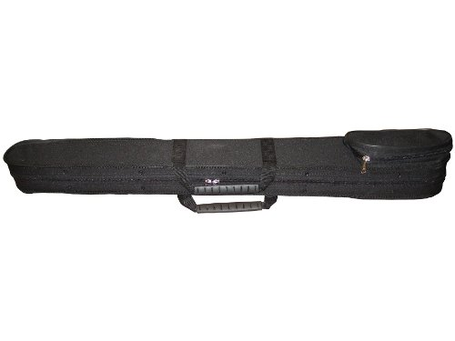 Vio Music Bass Bow Case Hardshell for 2 French or 2 German, Handle &Shoulder Strap