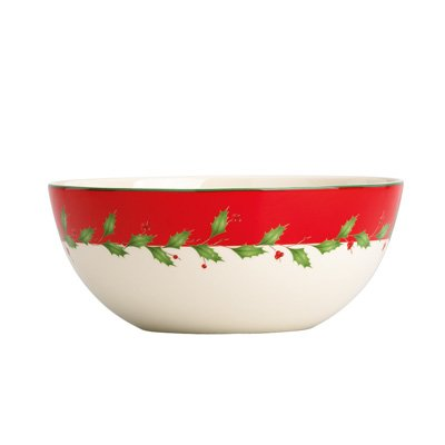 Lenox Holiday All Purpose Bowl - Lenox HOLIDAY RED DW ALL PURPOSE BOWLS S/4