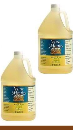 Four Monks White Wine Vinegar 1 Gal (2 Pack) by Four Monks