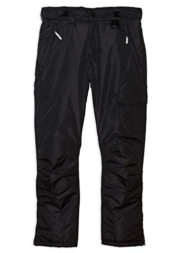 Arctic Quest Childrens Water Resistant Ski Snow Pant Black 10/12 (Boys Cinched Pants)
