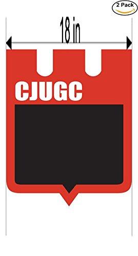 fan products of Club Juventud Unida General Campos de Concordia Argentina Soccer Football Club FC 2 Stickers Car Bumper Window Sticker Decal Huge 18 inches
