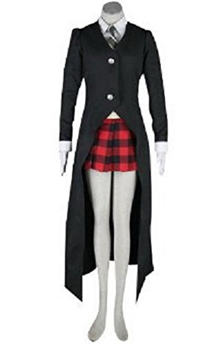 Xcoser Albarn Maka Costume Outfits Black Suit for Soul Eater Cosplay Costume in Medium