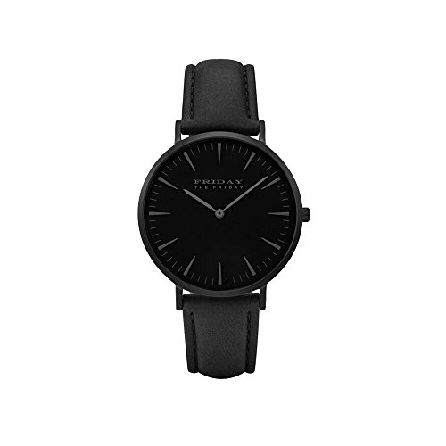 THE FRIDAY FIRDAY WOMEN DRESS PARTY FASHION QUARTZ WATCH LEATHER STRAP Boy Gift Men Sports - Black For Friday Men