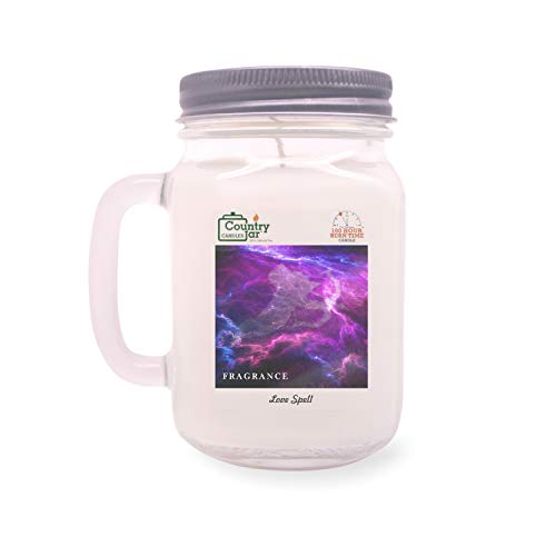 Country Jar Love Spell Mason Jar Candle (16 oz.) 100% Natural Soy (3 OR More Sale!)