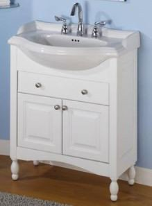 Windsor 26u0026quot; Narrow Depth Bathroom Vanity Base Base Finish: Cognac
