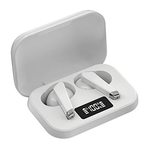 ワイヤレスイヤホン Bluetooth イヤホン TWS ブルートゥース ヘッドホン 完全ワイヤレス イヤホン(白)