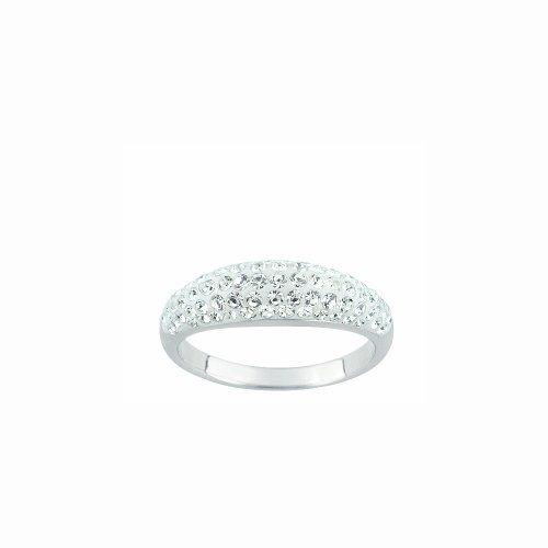 Bague Femme - 10033198 - Argent 925/1000 2.1 gr - Oxyde de zirconium 0.63 cts - Blanc