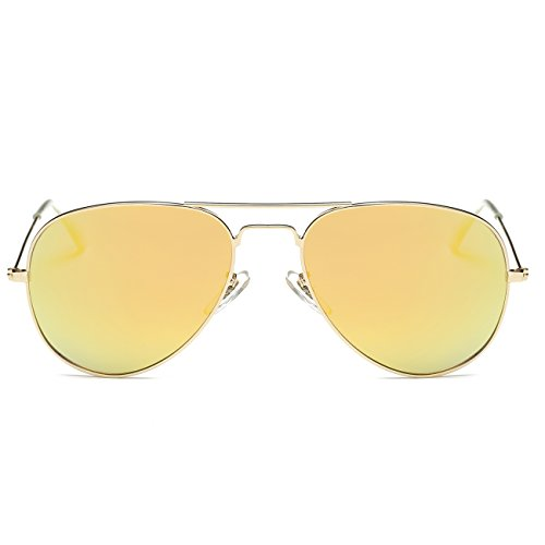 Lens Frame Polarized Fashion For Indoor Man Outdoor Women UV Protection Style Sports Mirror Eyewear Fishing Metal Party Sunglasses Frame Gold Gradient Anti Punk Decorations Sunglasses Travelling Driving Round Yellow Climbing 8X78qH