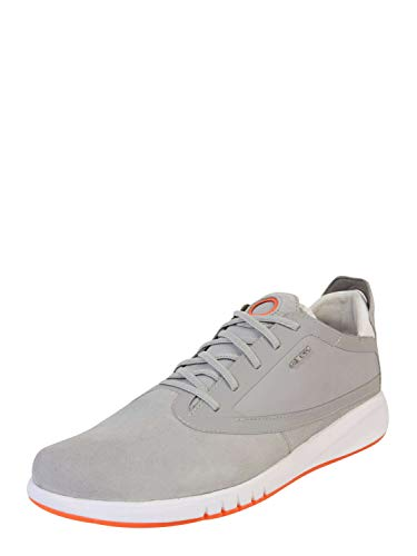 Geox Men's Suede Aerantis Trainers Gray
