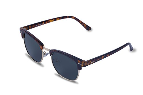 Vseegrs Unisex Sunglasses Anti-UV Polarized Mirrored Reflective Half Frame Sunglasses (Leopard, - Half Spectacles