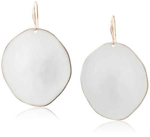 - Robert Lee Morris Soho Women's White Patina Sculptural Round Disc Drop Earrings, One Size