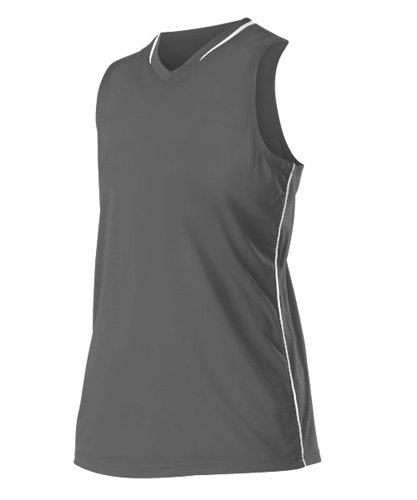 Alleson Women's Racerback Fastpitch Jersey - Charcoal/White - Medium ()