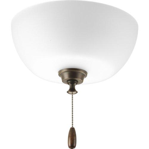 Progress Lighting P2649-20 Fan Light, Antique Bronze