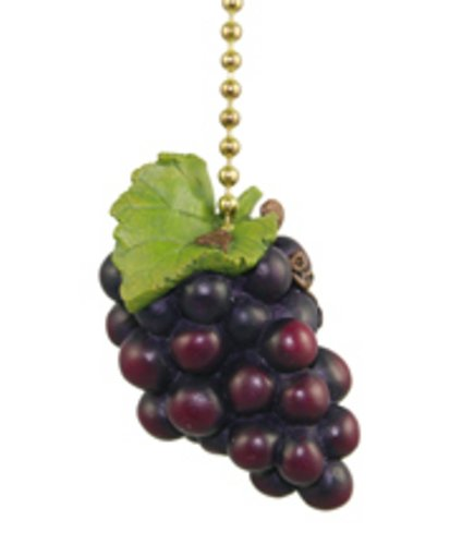 Clementine Designs Tuscany Grapes Wine Lover Kitchen Fan Light Pull