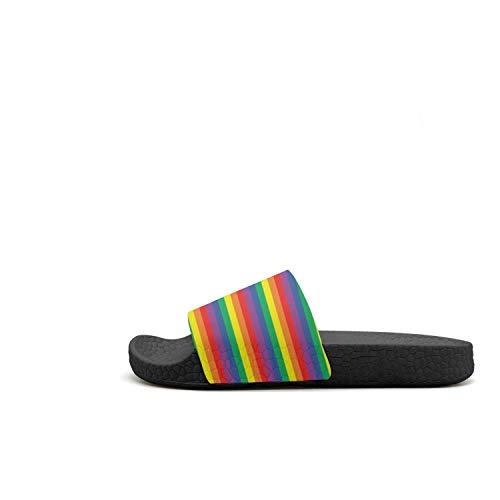 Anti 70s Stripe Slipper Girls and Women Sandals Rainbow Stripe Shower Sandals 70s Rainbow Slip Comfort on Light Beach Slip 5tvqqdw