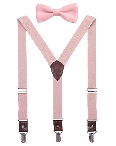 ORSKY Toddler Boys' Bow Tie and Suspenders Set Adjustable Elastic 24