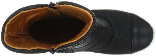cashott 9013 A9013 - Zapatillas clásicas de cuero para mujer Negro