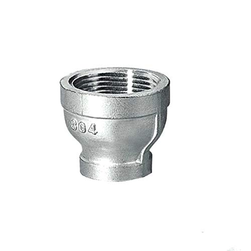 JIAIIO 2 to 1-1//2 Female Nipple Threaded Reducer Pipe Fittings Stainless Steel SS304 New