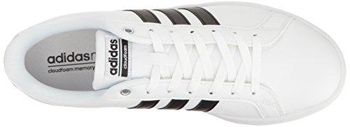 Adidas Neo Mens Cloudfoam Vantaggio Moda Sneaker Bianco / Nero / Bianco