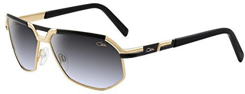 Cazal 9056 Sunglasses 001 Black & Gold / Grey Gradient Lens ()