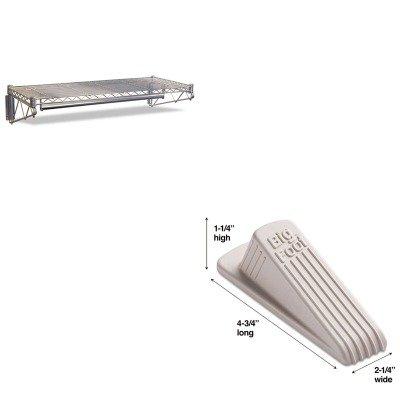 KITALEWS4818SRMAS00900 - Value Kit - Best Steel Wire Wall Shelf Rack (ALEWS4818SR) and Master Mfg 00900 Big Foot Doorstop, Beige (MAS00900)