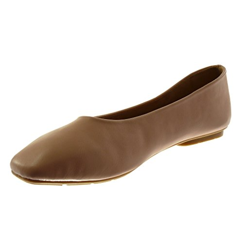 Angkorly Damen Schuhe Ballerina - Slip-On - Flexible Flache Ferse 1 cm Rosa  ...