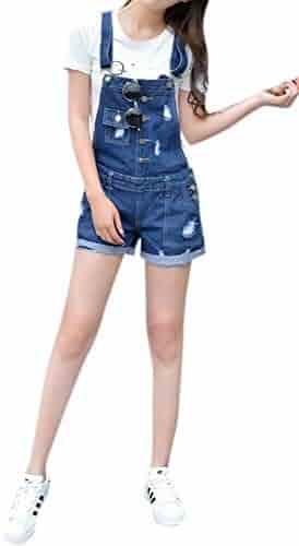 779cbdfae Skirt BL Women Fashion Plus Size Skinny Blue Strecthy Jeans Romper Denim  Overall