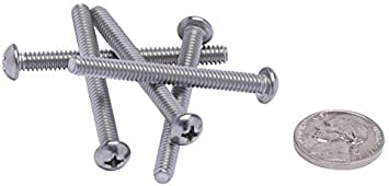 Coarse Thread #6-32 X 1 Stainless Phillips Round Head Machine Screw, by Bolt Dropper Stainless Steel 100pc 18-8 304