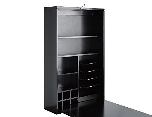 Utopia Alley Collapsible Fold Down Desk Table/Wall Cabinet with Chalkboard, Espresso/Chocolate by Utopia Alley (Image #1)