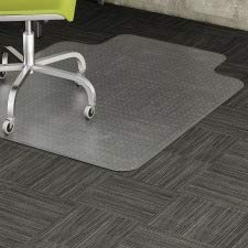 Lorell 45 by 60-Inch Wide Low Pile Chairmat, 25 by 12-Inch Lip, Clear