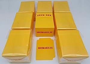 docsmagic.de 8 x Deck Box Yellow + Card Divider - Caja Amarillo - Pokemon - Yu-Gi-Oh! - Magic