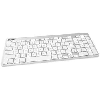 777fafb9295 Amazon.com: iHome Bluetooth Full Sized Keyboard for Mac, Silver ...