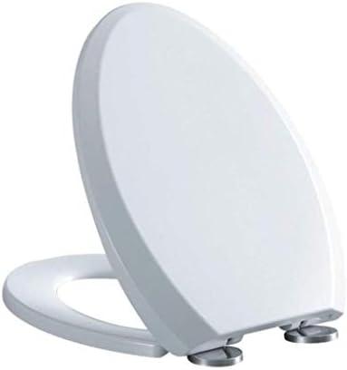 HZDXT 便座はUは浴室用緩衝パッド抗菌スロー閉じるミュートウルトラ耐性トップマウント便座カバー、ホワイト、42〜48.5センチメートル* 36.5センチメートルでトイレのふたをシェイプ